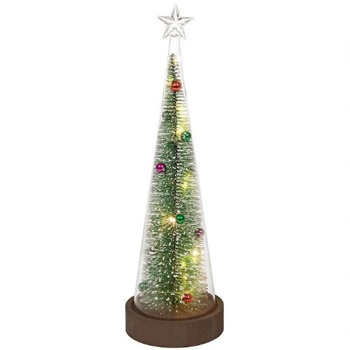 LED Glass Dome Tall Christmas Tree